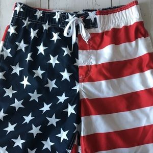 SOLD Faded Glory American Flag Board Shorts M